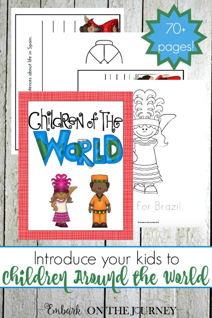 Learn more about 12 different countries through these fun coloring and writing pages in Children Around the World. :: www.thriftyhomeschoolers.com