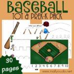 Free Baseball Tot & PreK-K Activity Pack