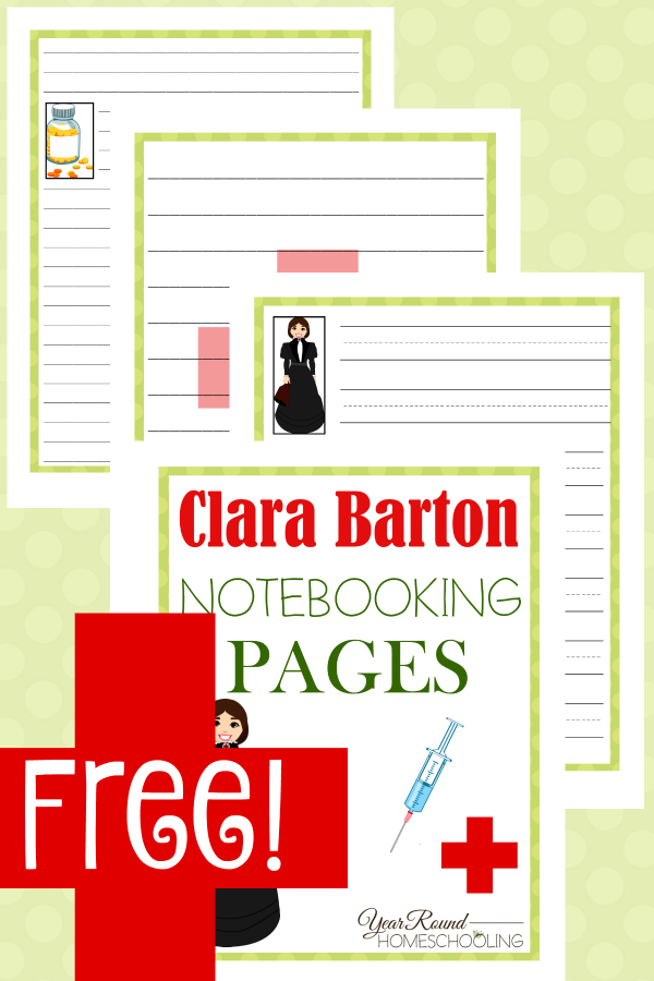 Students can record all they research and learn about Clara Barton and the Red Cross with these notebooking pages. :: www.thriftyhomeschoolers.com
