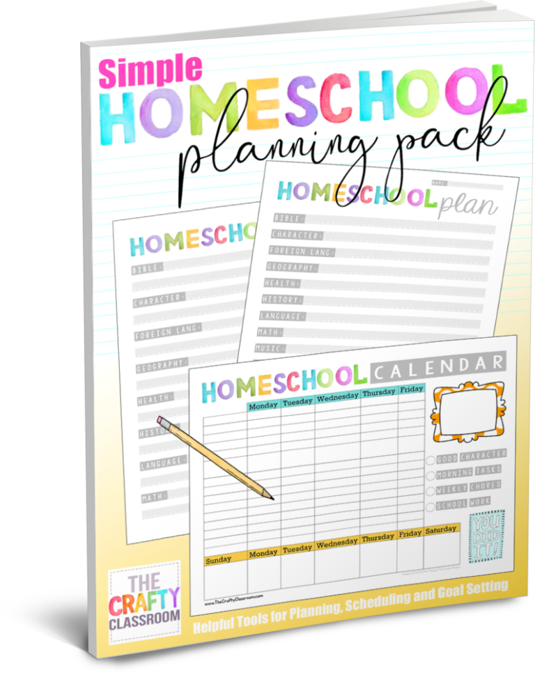 Make homeschool planning fun and cheery with this free printable planning pack! :: www.thriftyhomeschoolers.com