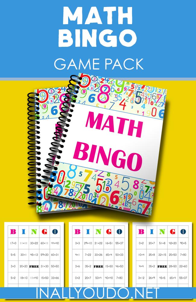 Free Printable Math Bingo Game Addition
