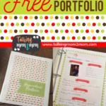 Homeschool Student Portfolio Printables