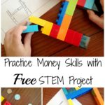 STEM Money Skills Practice with LEGO {free printable}
