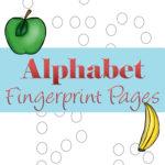 Fingerprint ABC printables