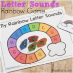 Letter Sounds Rainbow Game Freebie