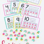 Mini Eraser Spring Themed Counting Cards