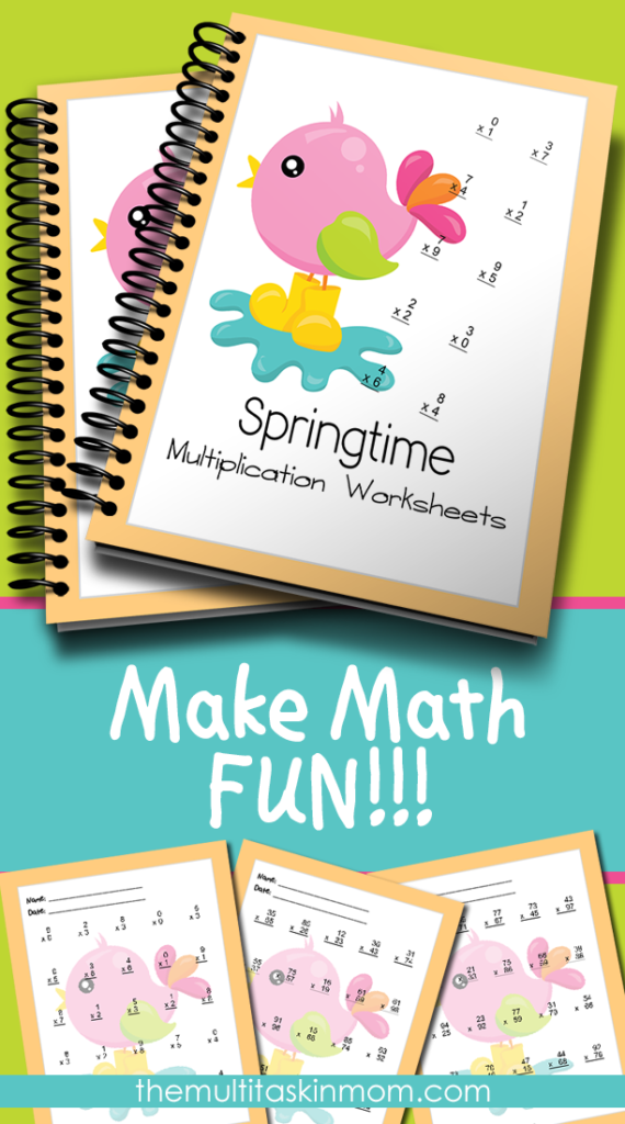 Bring a little sunshine and spring in to your math lessons with this fun Springtime Multiplication Pack. :: www.thriftyhomeschoolers.com