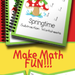 Free Springtime Subtraction Worksheets