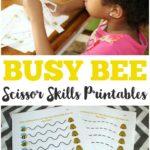 Bumble Bee Scissor Skills Printables