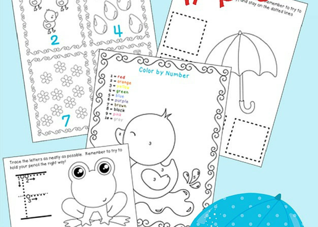 Spring Showers Free Printable Pack