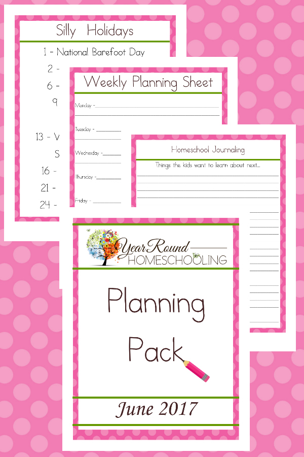 Are you a year round homeschooler? Do you need to play a little catch-up in June? Grab this FREE June Planning Pack! :: www.thriftyhomeschoolers.com
