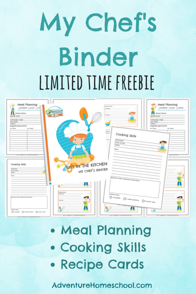 Make learning in the kitchen fun with this LIMITED TIME Freebie!! :: www.thriftyhomeschoolers.com