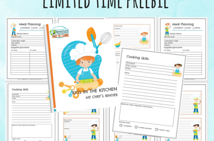 Limited Time: Kids in the Kitchen Chef's Binder Builder