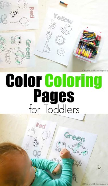 Toddlers will enjoy coloring these pages while learning to recognize and spell the names of colors with these FREE pages. :: www.thriftyhomeschoolers.com