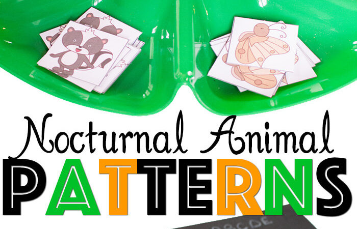 Nocturnal Animals Growing Patterns printables