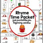 Free Rhyming Worksheets for Beginning Readers