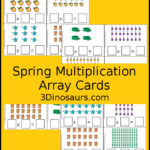 Spring themed Multiplication Array Cards