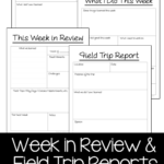 Free Printable Field Trip and Week in Review Reports!!