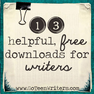 If you have a teen writer or one that needs help staying on task with their assignments, don't miss these 13 free downloads! :: www.thriftyhomeschoolers.com