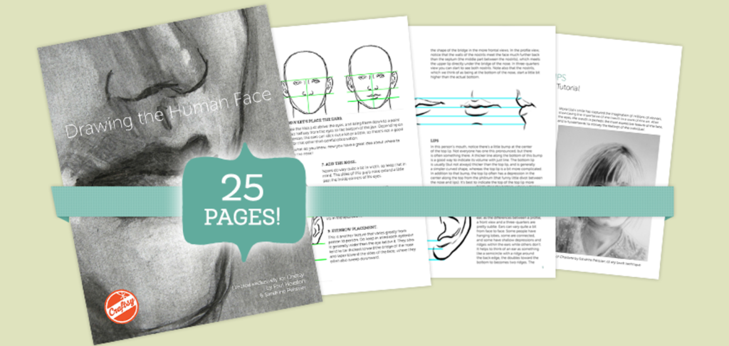 Do you have an artist in the house? They can learn how to master the skill of drawing the Human Face with this FREE 25-page eBook Tutorial. :: www.thriftyhomeschoolers.com