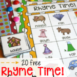 20 Rhyme Time Game Boards