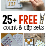 Over 25 Free Sets of Counting Clip Cards