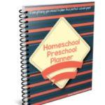 Free Homeschool Preschool Planner