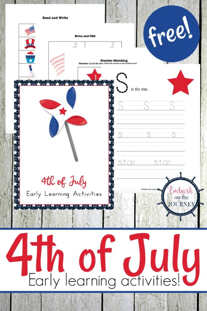 This 4th of July activity pack for PreK-2nd graders is a fun way to incorporate some learning before the festivities of the day begin! :: www.thriftyhomeschoolers.com