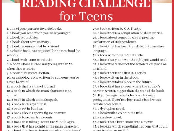 Printable Reading Challenge for Teens