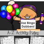 Free Alphabet Balloon Pop Printable