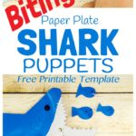 Free Paper Plate Shark Puppet Craft Template