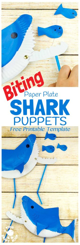 Kids of all ages will love making this simple and fun biting Shark Puppet! :: www.thriftyhomeschoolers.com