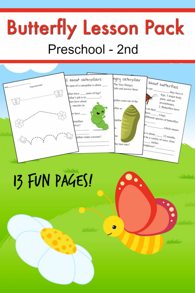 Little ones will love learning all about the process that a caterpillar turns in to a butterfly with this fun printable pack! :: www.thriftyhomeschoolers.com