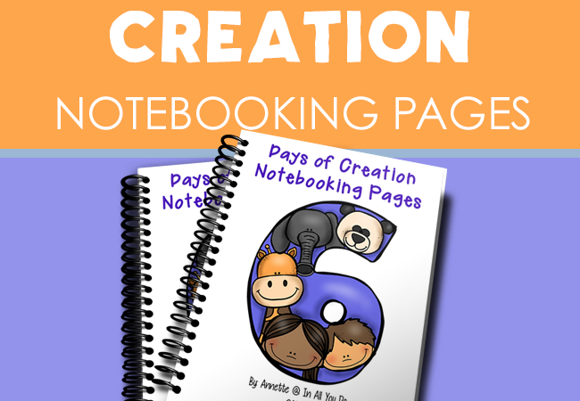 Free Bible Creation Notebooking Pages