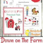 Down on the Farm Preschool Printables