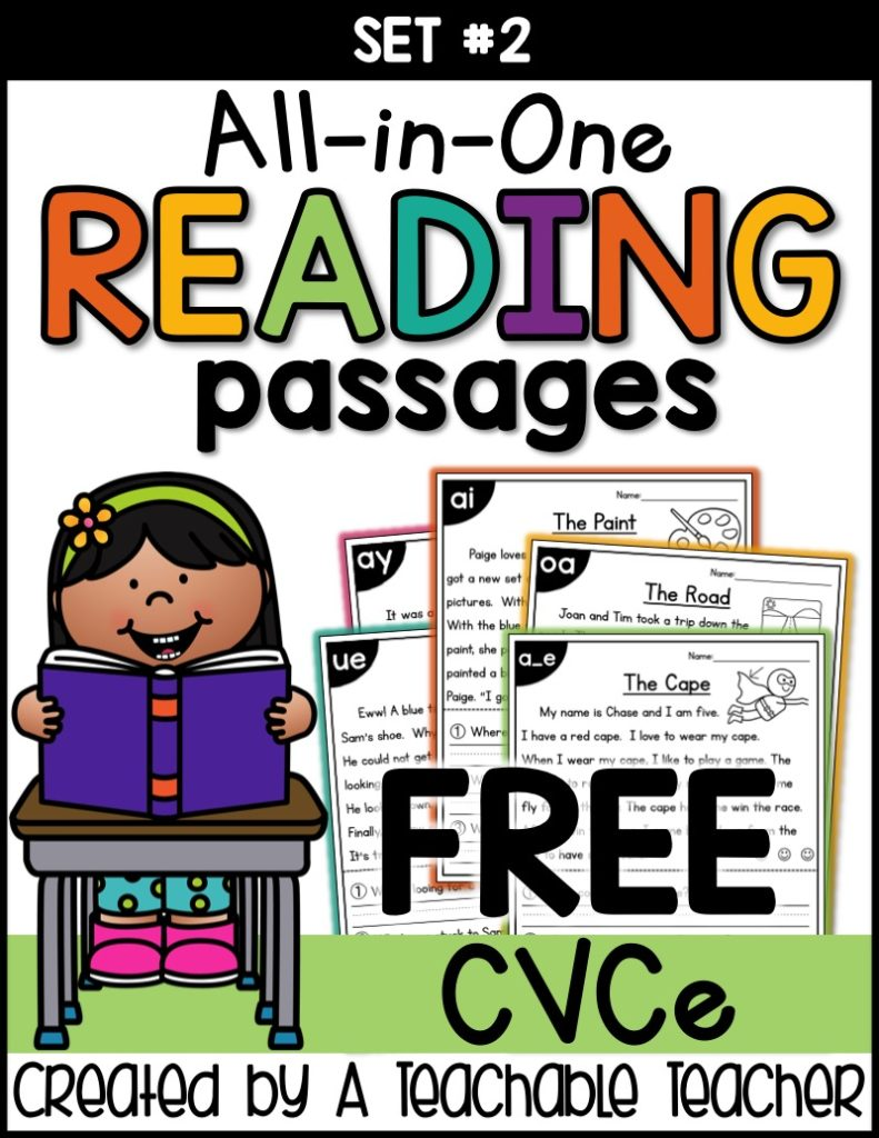 - Free CVCe Reading Passages Worksheets - Thrifty Homeschoolers