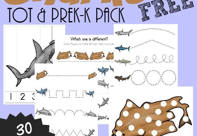 Shark Printables for PreK-5th Grade