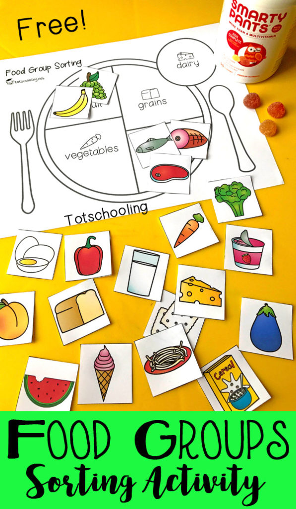 This food groups sorting activity is the perfect way to help kids learn the different food groups, as well as portion control. :: www.thriftyhomeschoolers.com