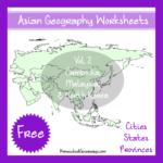 Free Asian Geography Printable Set
