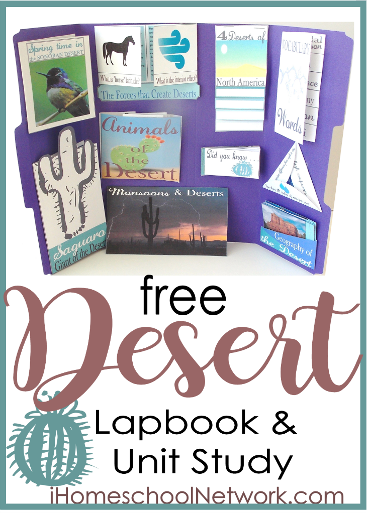 Studying the desert? Grab this free Desert Lapbook printable set to take learning to a whole new level! :: www.thriftyhomeschoolers.com