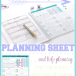 High School Homeschool Planning Sheet