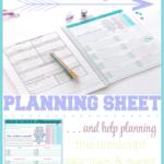 High School Homeschool Planning Sheet