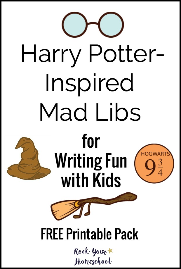 graphic about Printable Funny Mad Libs titled Totally free Harry Potter Impressed Insane Libs - Thrifty Homeschoolers