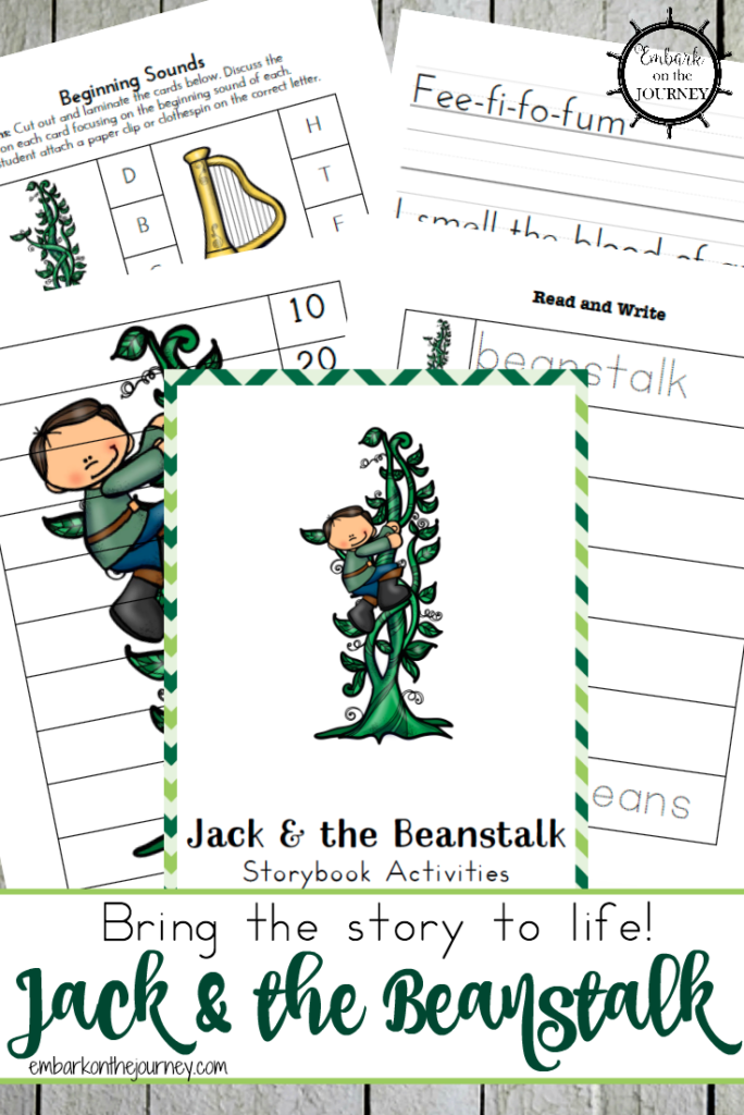 Little ones will love this fun Jack & the Beanstalk Activity Pack to use after you read the story to them! :: www.thriftyhomeschoolers.com