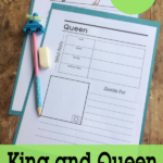 Free King & Queen Notebooking Pages