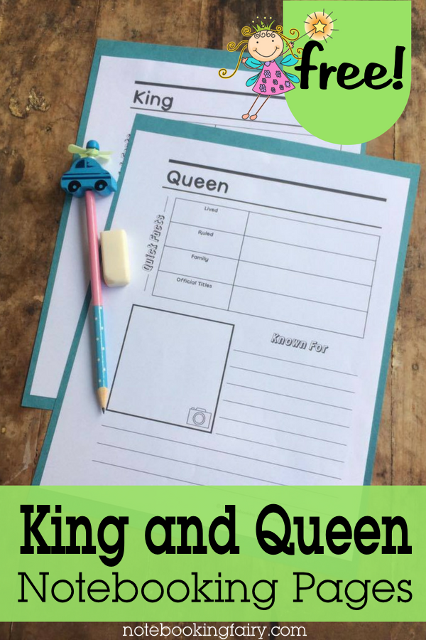If you're studying the history of Europe, don't miss these King and Queen Notebooking Pages. :: www.thriftyhomeschoolers.com