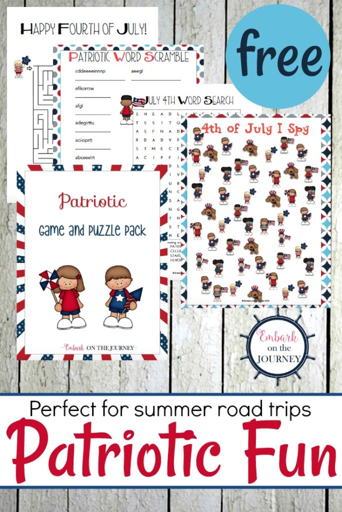 Grab these Patriotic printables for some on-the-go fun this Independence Day! :: www.thriftyhomeschoolers.com