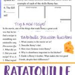Free Ratatouille Movie Unit Study