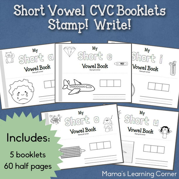 Help kids work on their reading skills with these fun and colorable Short Vowel CVC Booklets! :: www.thriftyhomeschoolers.com