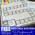 """Sir Cumference"" Place Value Printable Game"